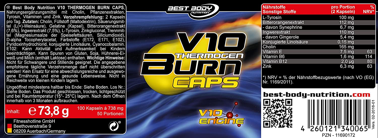 best body v10 fat burn thermogen opinie