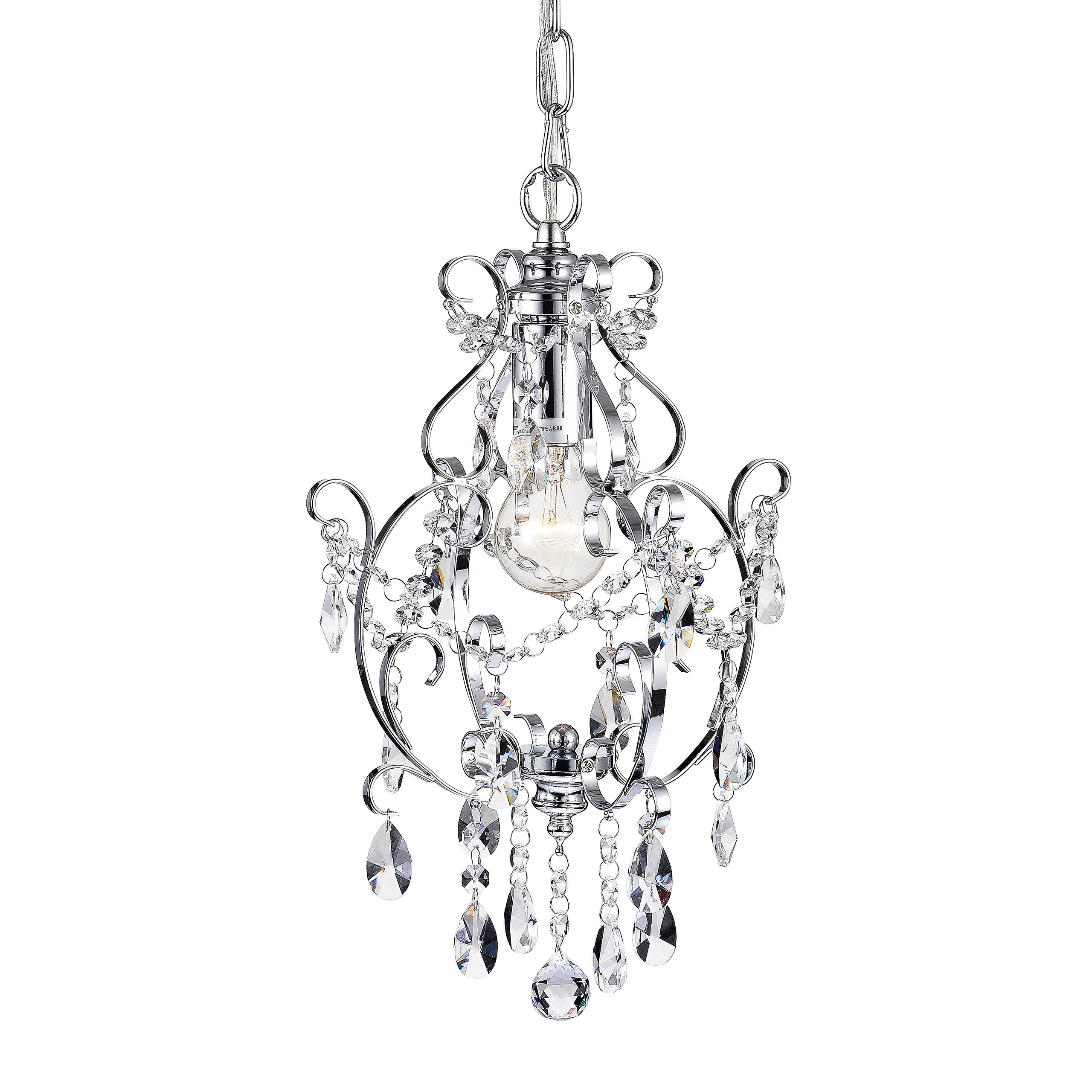Amorette chrome mini chandeliers crystal chandelier lighting 1 light ceiling light fixtures