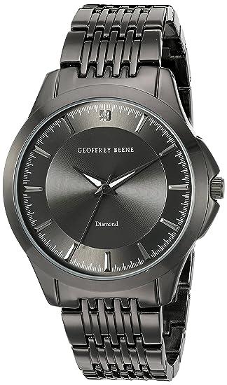 Amazon.com: Geoffrey Beene Mens GB8051GUN Analog Display Japanese Quartz Grey Watch: Watches