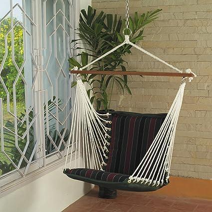 OAK N OAK Tropical Palm Stripe Pleasant & Relaxing Indoor & Outdoor Hanging Chair Furniture