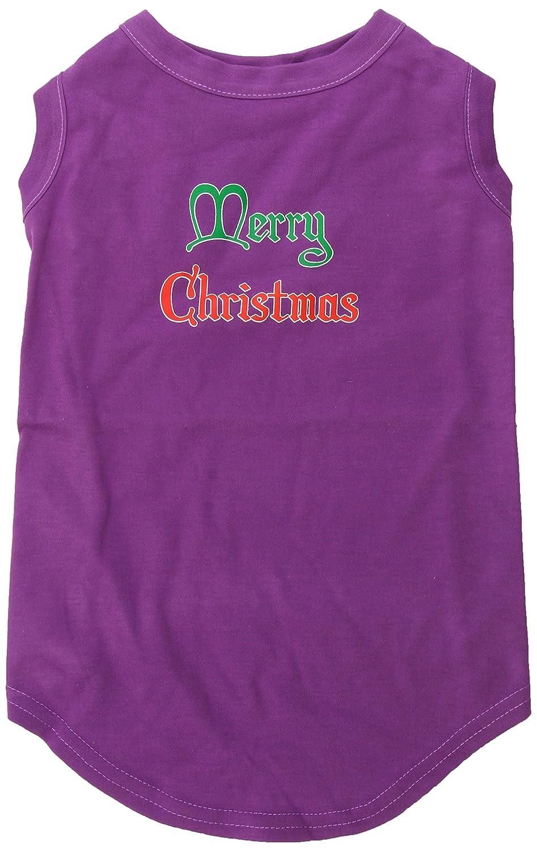 Dog   Cat   Pet Charms Merry Christmas Screen Print Shirt Purple XXL (18)