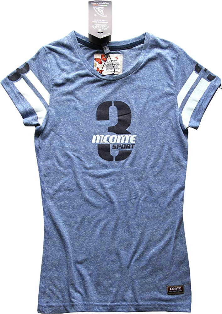 M.Conte señoras Camiseta Deportiva Fitness T sobre Camisa de Manga Corta Azul Gris púrpura SML XL Lilly de Color Azul Claro Tamaño S: Amazon.es: Ropa y accesorios
