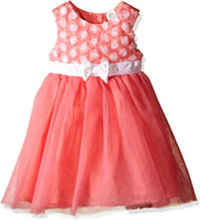 9432814516c Amazon.com  Chaps Infant Girls Red Velvet Party   Holiday Dress with ...