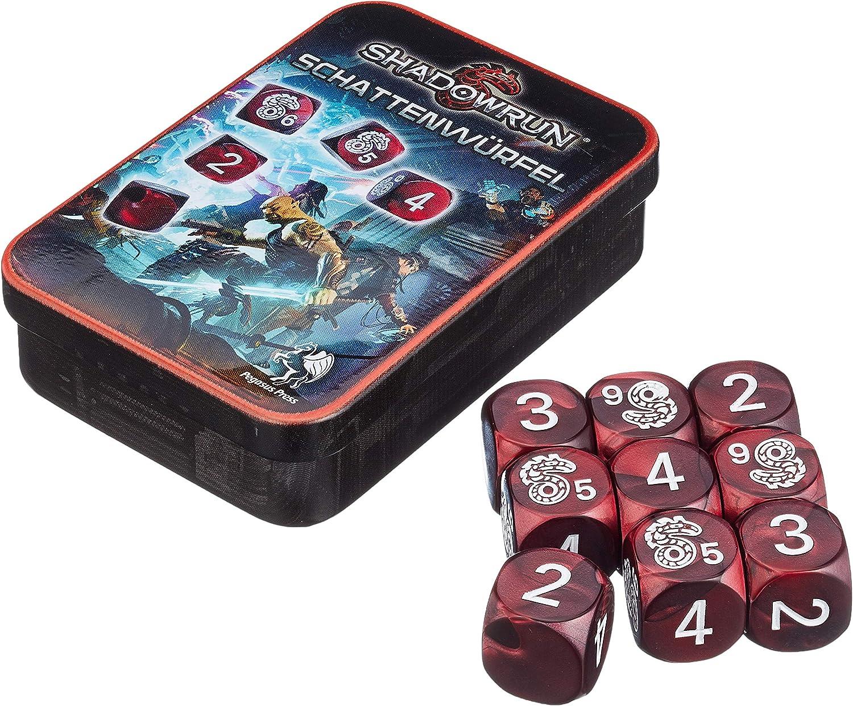Pegasus Juegos 134101 – Juego de dados, Shadow Run, Nueva versión, rojo: Amazon.es: Juguetes y juegos