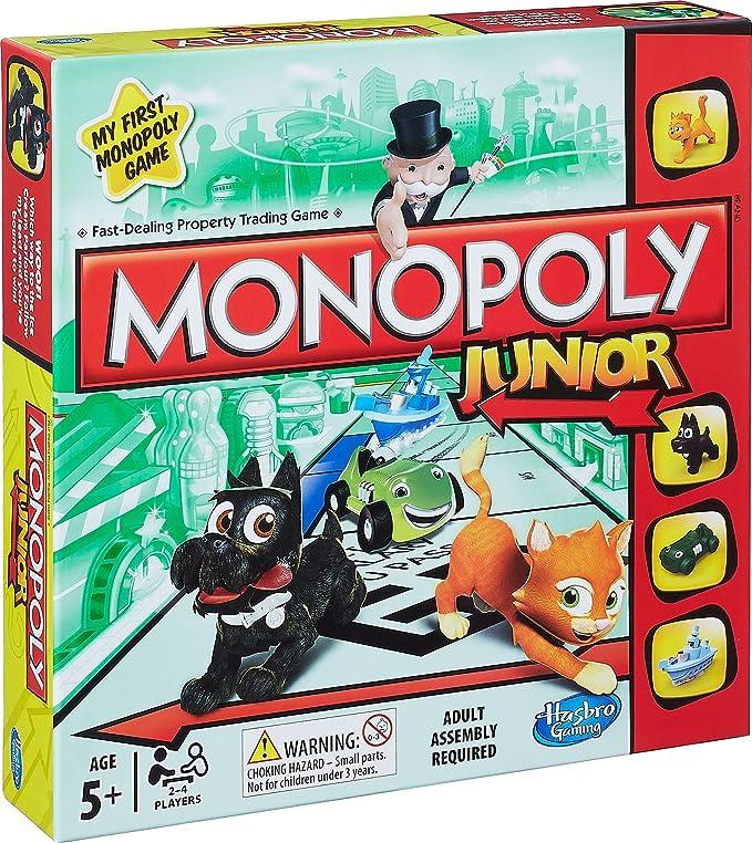Hasbro Monopoly Junior Game Simulación económica Niños - Juego de Tablero (Simulación económica, Niños, Niño/niña, 5 año(s), 8 año(s), Inglés): Amazon.es: Juguetes y juegos