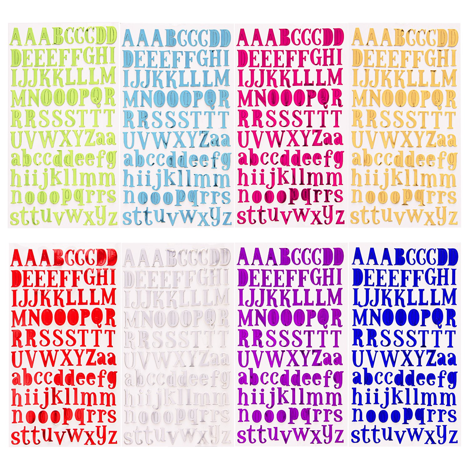 Amazon.com: Sunmns Colorful Glitter Letter Gift Alphabet Sticker ...