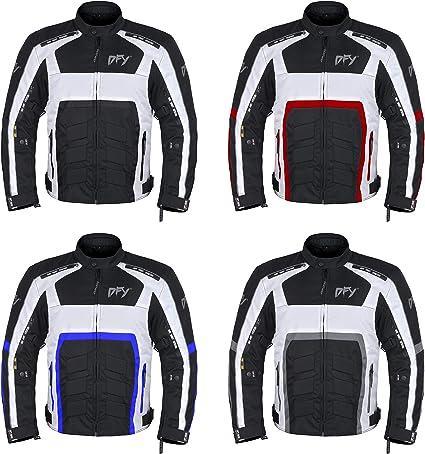 DEFY Men Textile Motorcycle Dual-Sport Biker Riding Jacket Breathable CE ARMORED