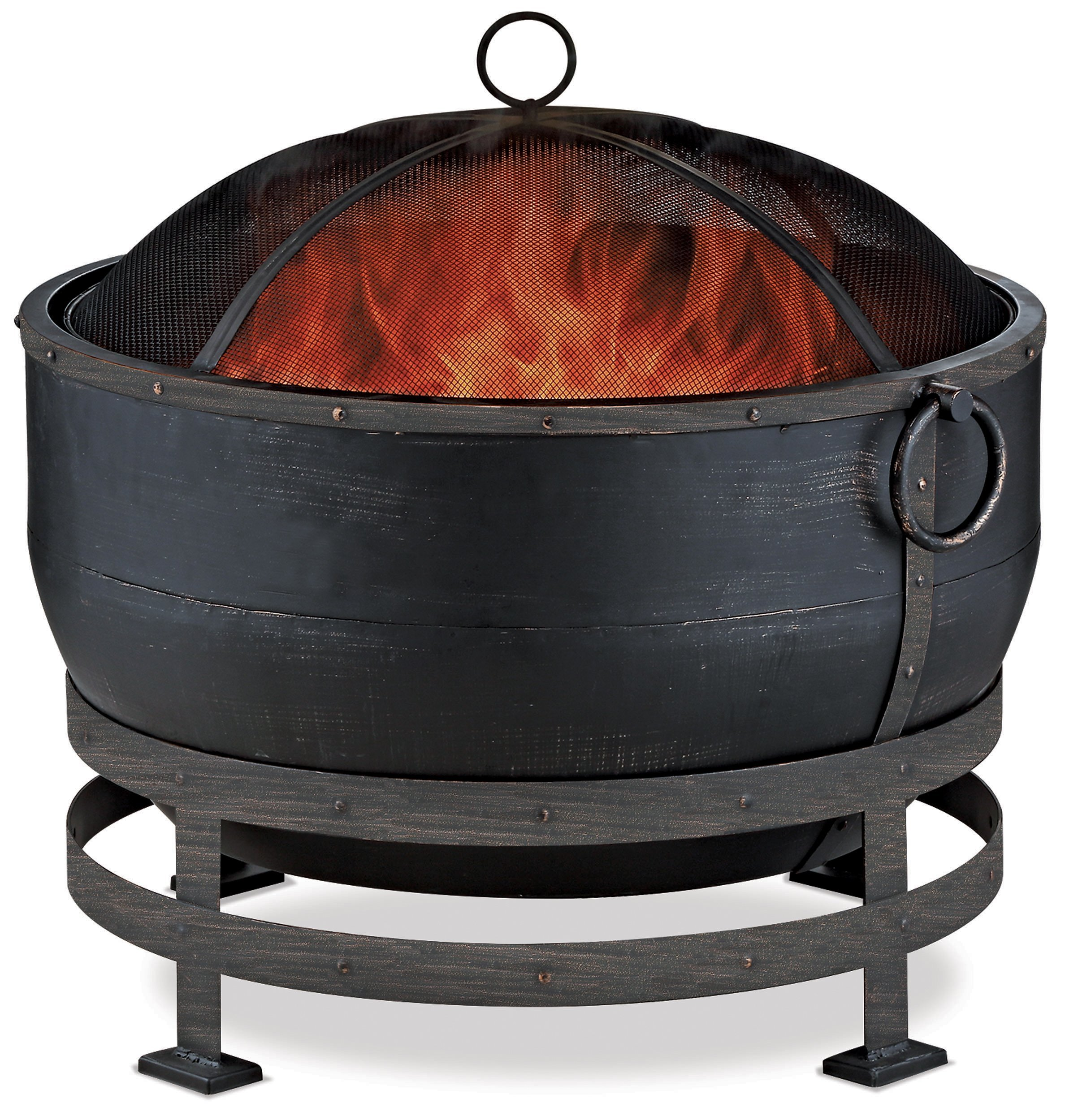 Endless Summer WAD1579SP Oil Rubbed Bronze Wood Burning Outdoor Firebowl with Kettle Design by Endless Summer