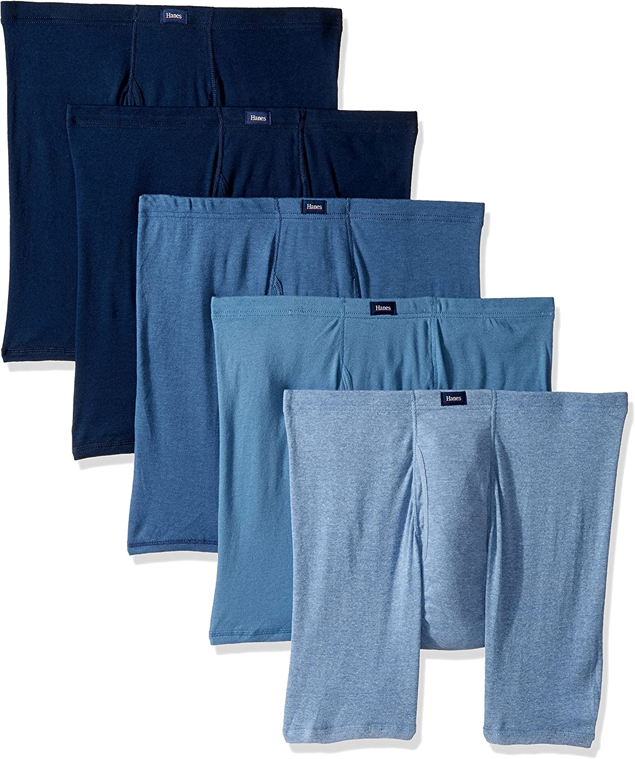 Hanes Ultimate Men's 5 Pack Ultimate Comfort Soft Waistband Boxer Briefs