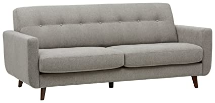 Rivet Tufted Modern Sofa, Pebble – Sloane Mid-Century Modern, 79.9\