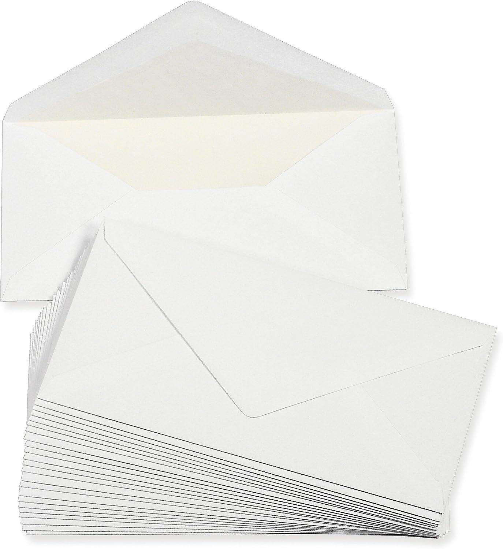 Silber 11x22 cm bunt mit wei/ßem Seidenfutter Weihnachtskarten 25 DIN Lang Briefumschl/äge ideal f/ür Einladungen Gl/ückwunschkarten aus der Serie Farbenfroh 100 g//m/²