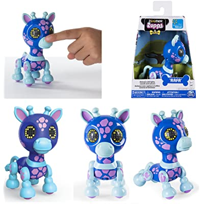 Zoomer Zupps Interactive Giraffe with Lights, Sounds and Sensors ~ Rafa: Toys & Games