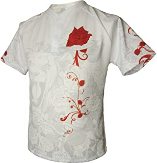 176cbadf41b Olorun England Honour White Supporters Rugby Shirt English Roses S-7XL