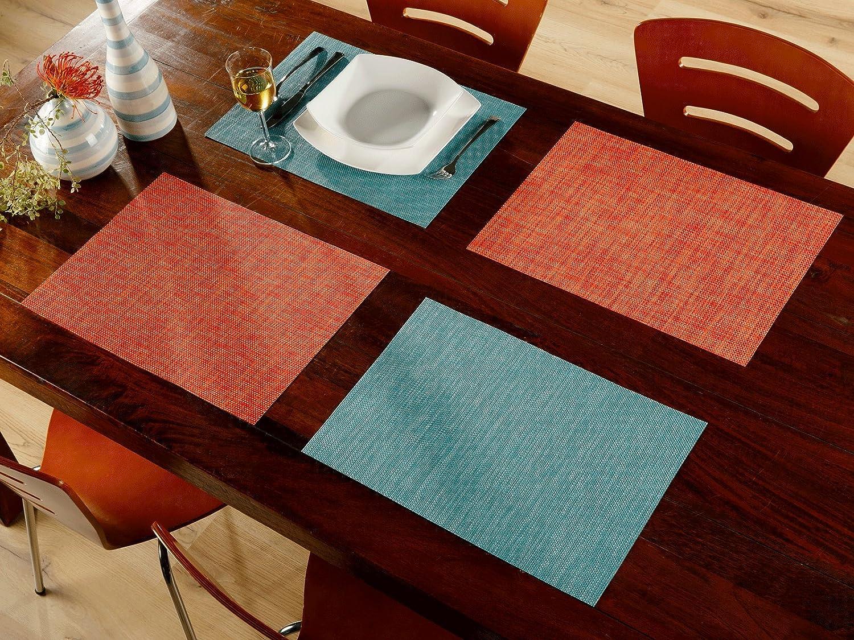 Edle Platzmatten Tischmatten Kunststoff Kunststoff Kunststoff Flechtmuster braun Maße 45x30cm 4er Set (4,99 Euro Stück) B007G752TE Platzsets 365440