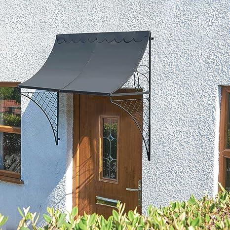 Regency estilo puerta toldo 114 cm Scoop toldo con borde ...