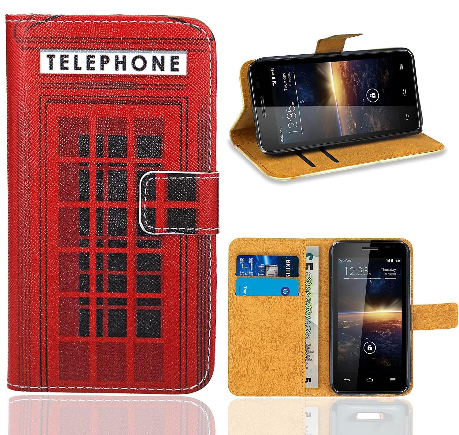 Amazon.com: Vodafone Smart 4 Turbo Case, FoneExpert® Premium Leather Flip Wallet Bag Case Cover For Vodafone Smart 4 Turbo: Cell Phones & Accessories