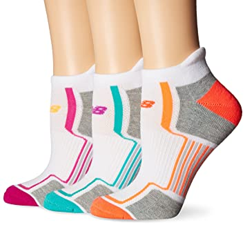 New Balance mujeres rendimiento corte bajo Tab calcetines (3 Pack), mujer, color blanco, tamaño 10-12: Amazon.es: Deportes y aire libre