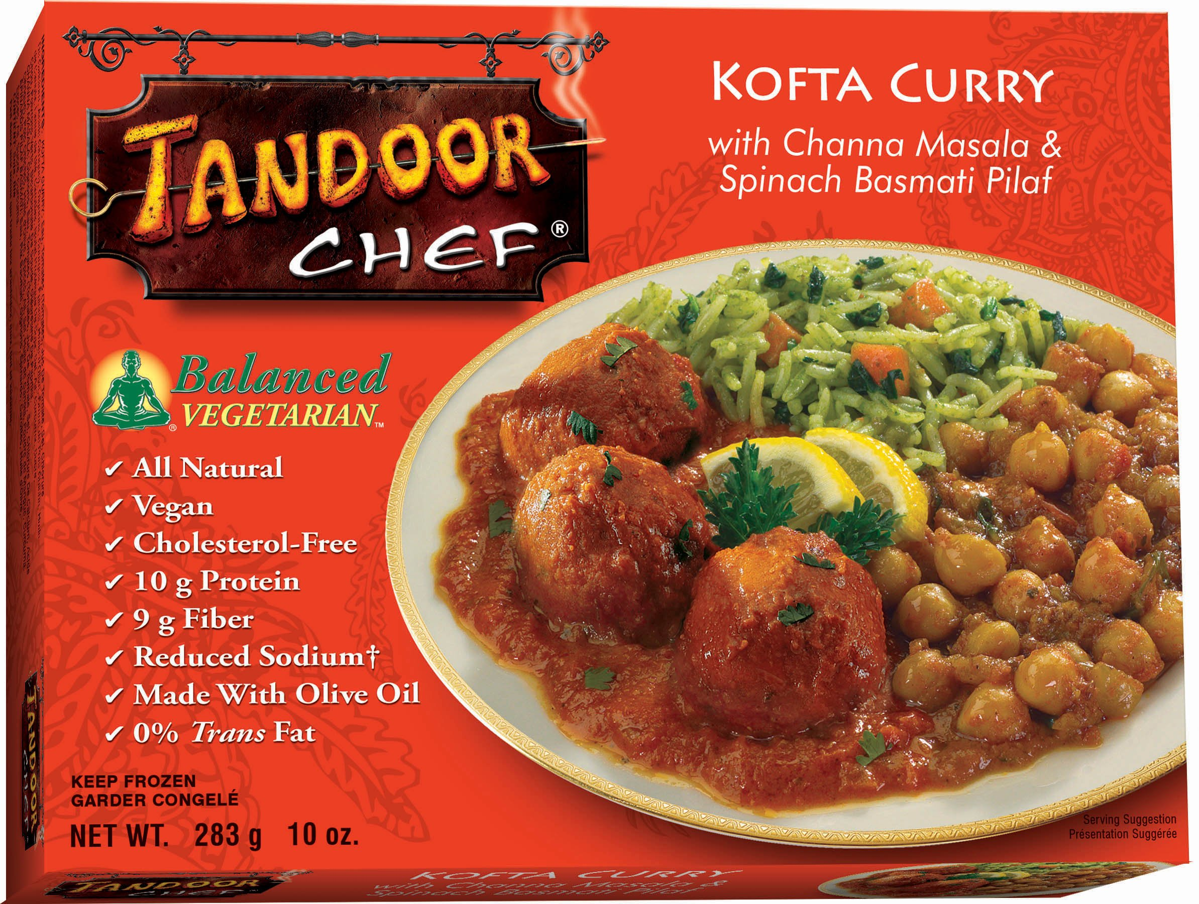 Tandoor Chef Kofta Curry with Channa Masala and Spinach Basmati Pilaf, 10-Ounce Boxes (Pack of 12)