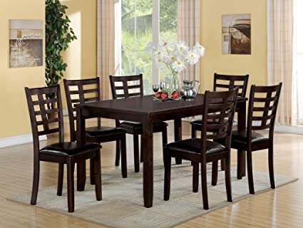 Acme Furniture 71950 Tahlia 7 Piece Espresso Dining Set