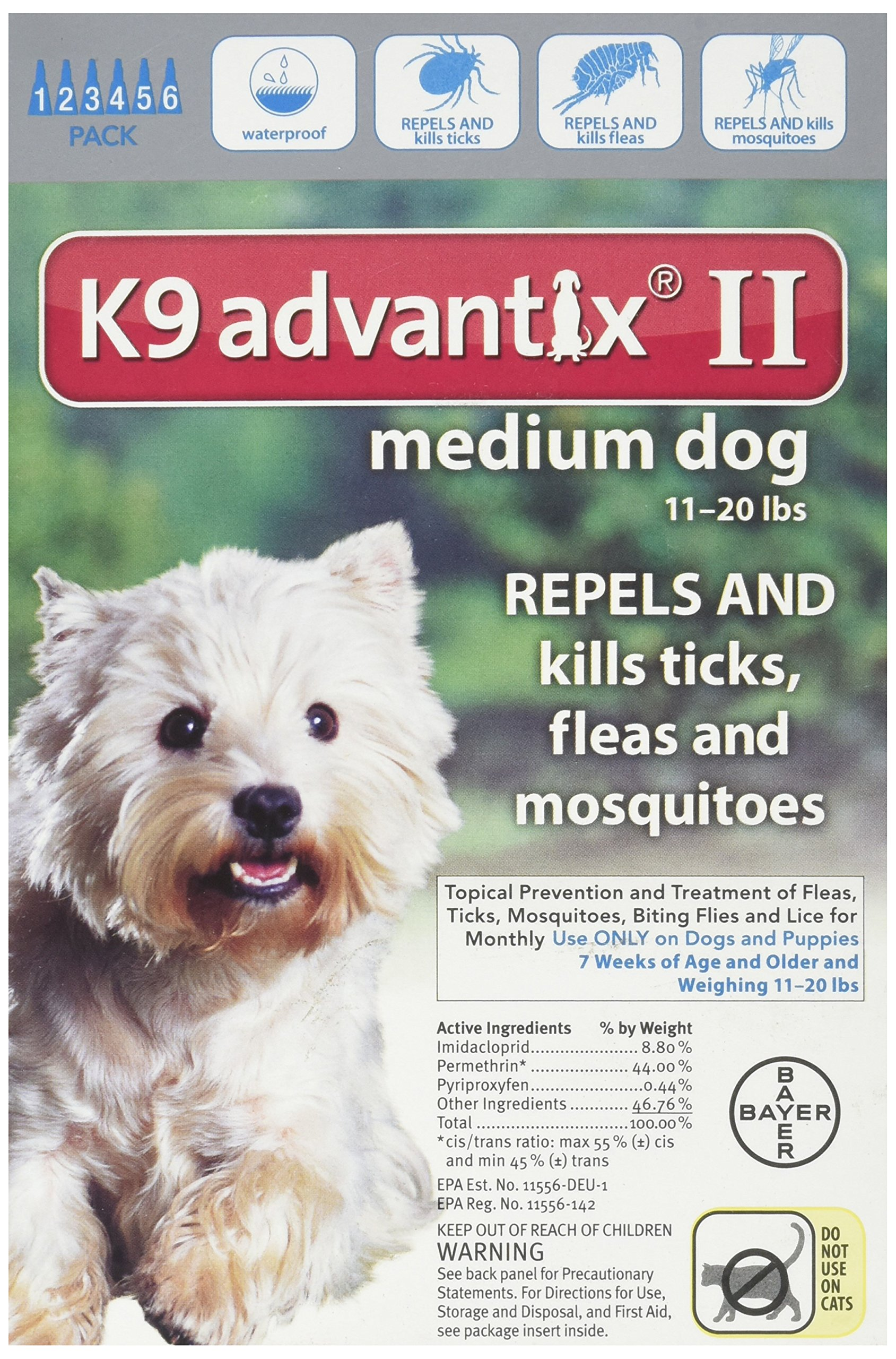 K9 Advantix II for Dogs 11 to 20 lbs - 6 Count by Bayer Animal Health