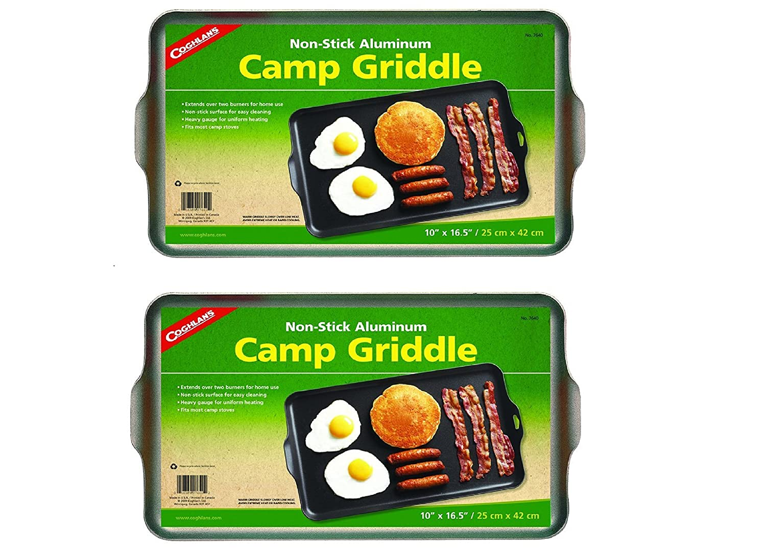 Amazon.com: Coghlan's Two Burner Non-Stick Camp Griddle, 16.5 x 10 ...