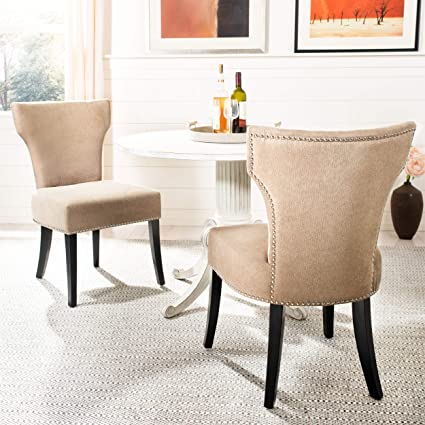 Admirable Safavieh Mercer Collection Carter Wheat Polyester Dining Chair Set Of 2 Short Links Chair Design For Home Short Linksinfo