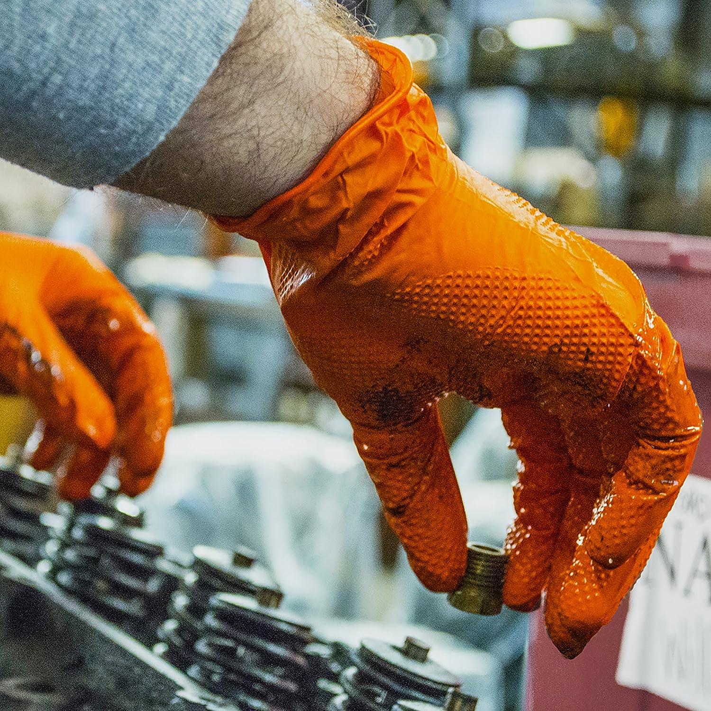 AMMEX Medium Powder Free Heavy Duty Latex Gloves Case of 500 12 mil Blue Disposable GPLHD84100 Industrial