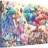 Gallery of Innovative Art - Anime Artwork - Candy Forest - 100x75cm – Larga stampa su tela per decorazione murale – Immagine su tela su telaio in legno – Stampa su tela Giclée – Arazzo decorazione murale