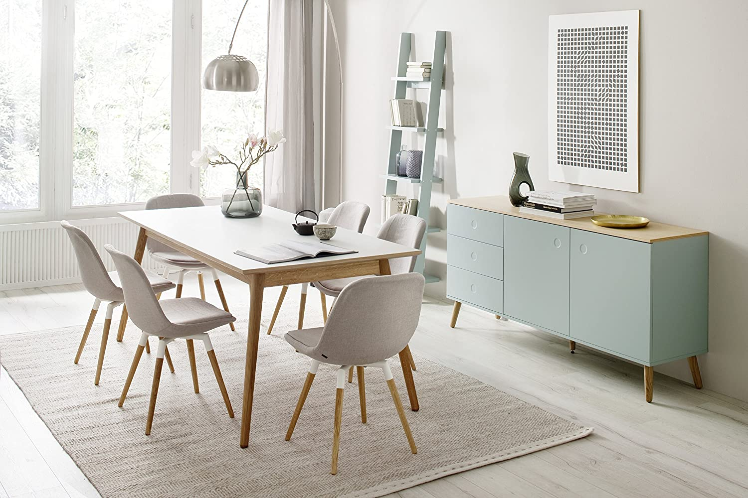 Price cut limited time offer shop now for the best selection hurry - Tenzo Dot Designer Dining Table Mdf And Solid Oak White Oak Amazon Co Uk Kitchen Home
