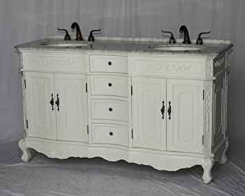 Amazon Com 60 Inch Antique Style Double Sink Bathroom Vanity Model 1905 60 Wk Kitchen Dining