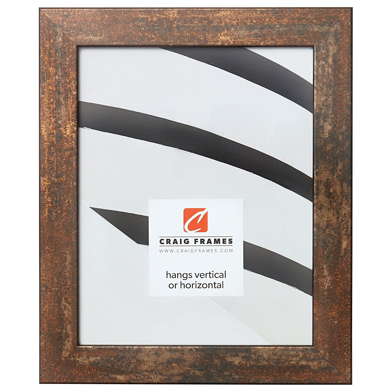 Craig Frames Bauhaus 125 Picture Frame, 14 x 22 Inch, Rust