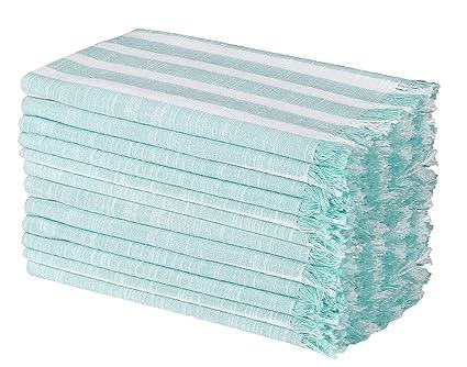Blanc Serviettes de Table Mariage Clinique du coton Lot de 12 Serviettes de Table Coton 50 x 50 cm Point dourlet Serviettes de Table tissu