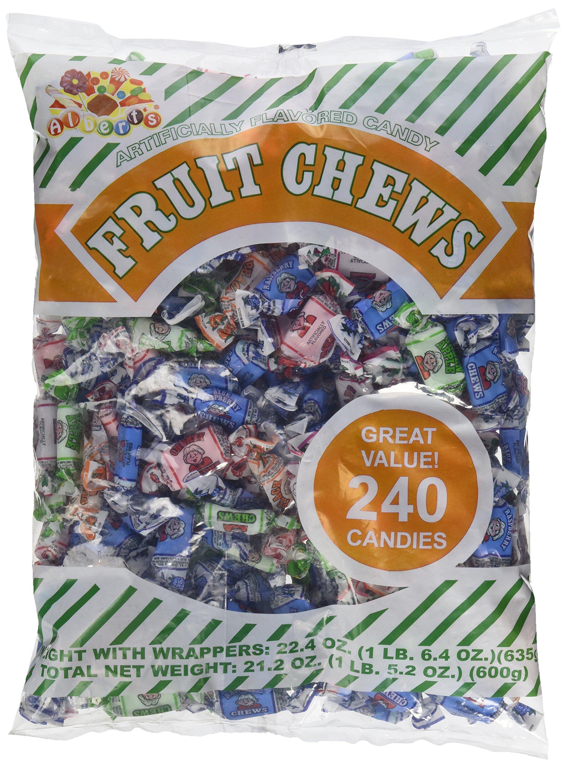 Albert's Fruit Chews - Assorted Flavors (240 Candies) by Albert's