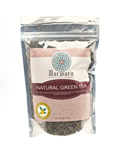 Marmara Green Leaf Tea All Natural Pure Herbal Aromatic Loose No Sugar No Caffiene 4 Oz Makes 20 -30 CupsGreen Leaf Tea