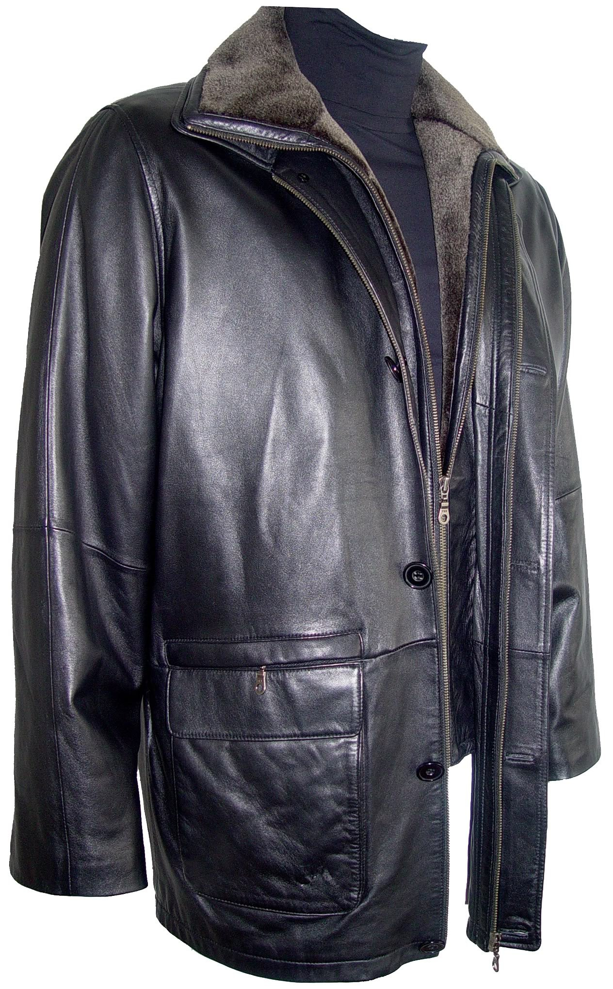 Johnnyblue Men 2002 Simply Tall Big All Size Lamb Leather Barn Coat