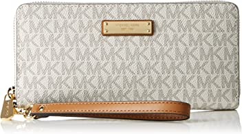Michael Kors Womens Travel Continental Money Pieces Logo Wristlet Wallet