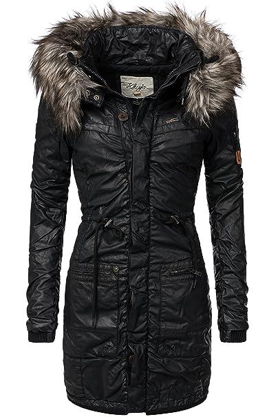 Khujo Julia abrigo de invierno para mujer negro M: Amazon.es: Ropa y accesorios