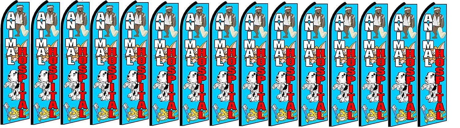 Pack of 15 Hardware not Included Animal Hospital King Swooper Feather Flag Sign