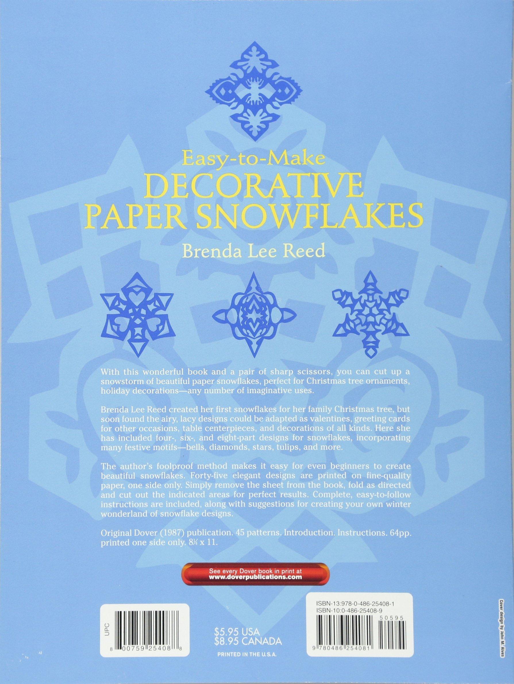 Easy-to-Make Decorative Paper Snowflakes: Amazon co uk: Brenda Lee