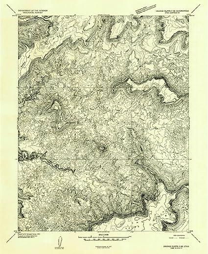 Cliff Topographic Map.Amazon Com Utah Maps 1953 Orange Cliffs 3 Ut Usgs Historical