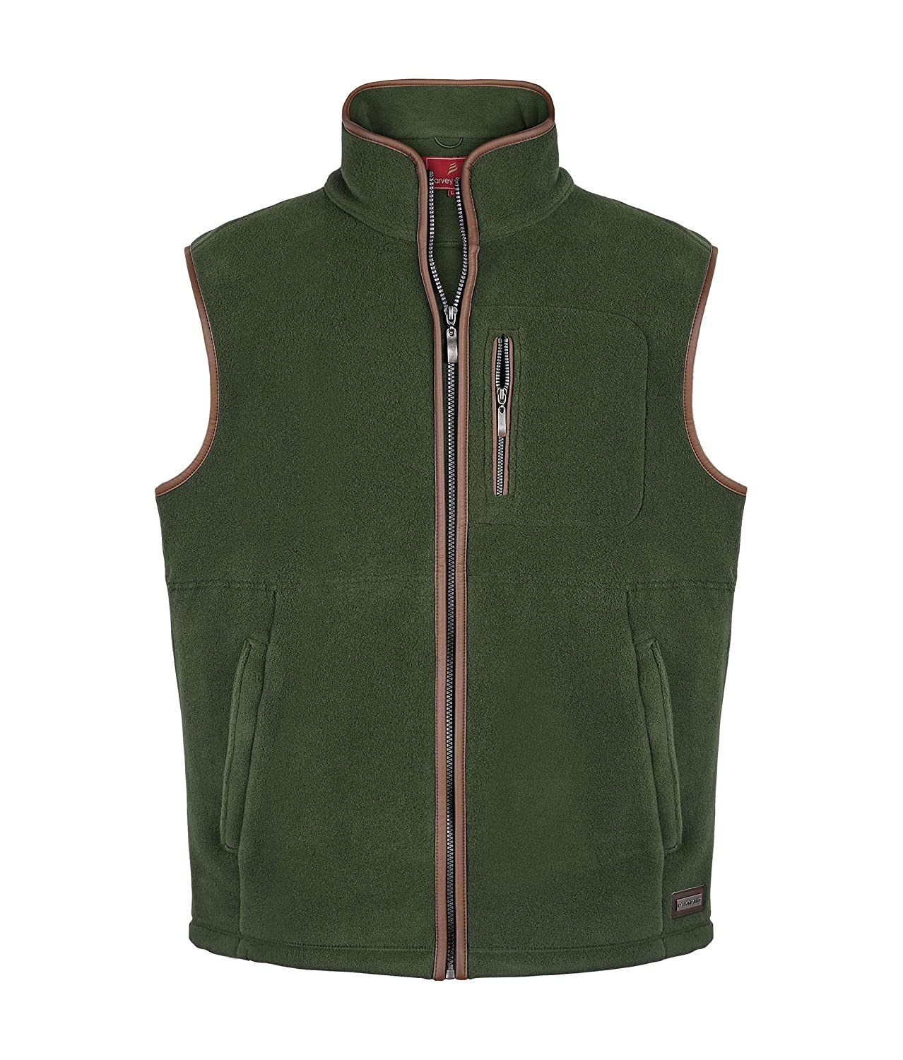 Harvey Parker Corby - Mens Luxury Country Lightweight Sleeveless Fleece Gilet Vest Bodywarmer