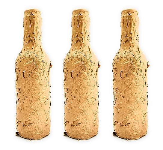 Botellas con suerte - Pack 3 Botellitas Voll-Damm Decoración Botella ...