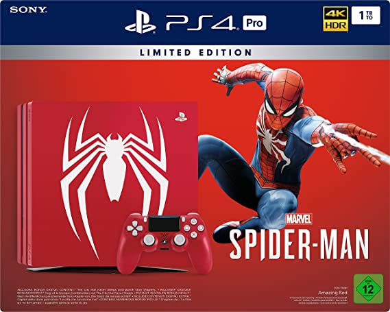 PlayStation 4 Pro - Konsole (1TB) Limited Edition Marvels Spider ...