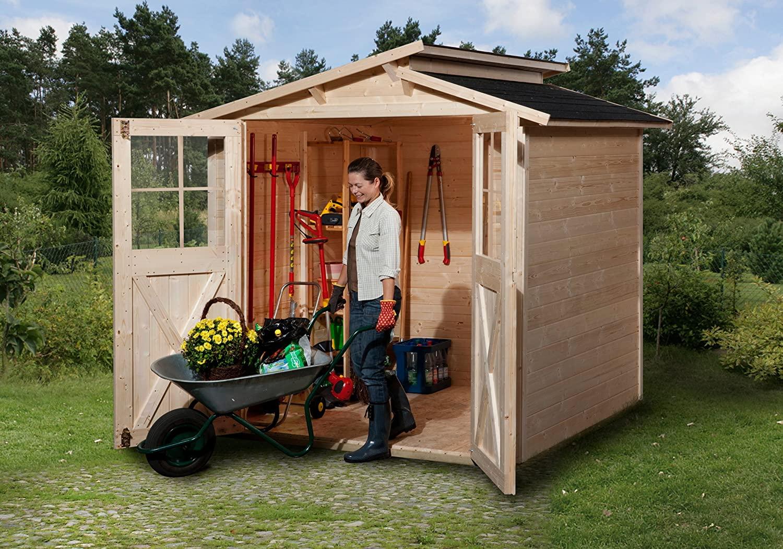 Weka Gartenhaus 323 Größe 2 natur