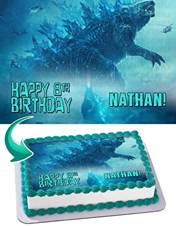 Godzilla King of the Monsters Edible Cake Image Topper Personalized ...