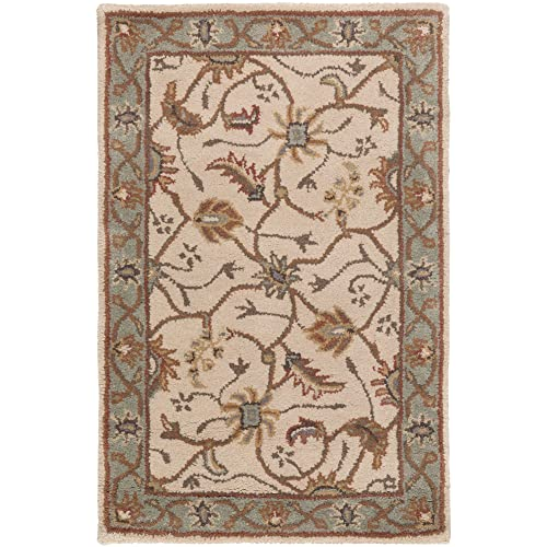 Surya Caesar CAE-1088 Classic Hand Tufted 100 Wool Dark Olive Green 2 x 3 Traditional Accent Rug