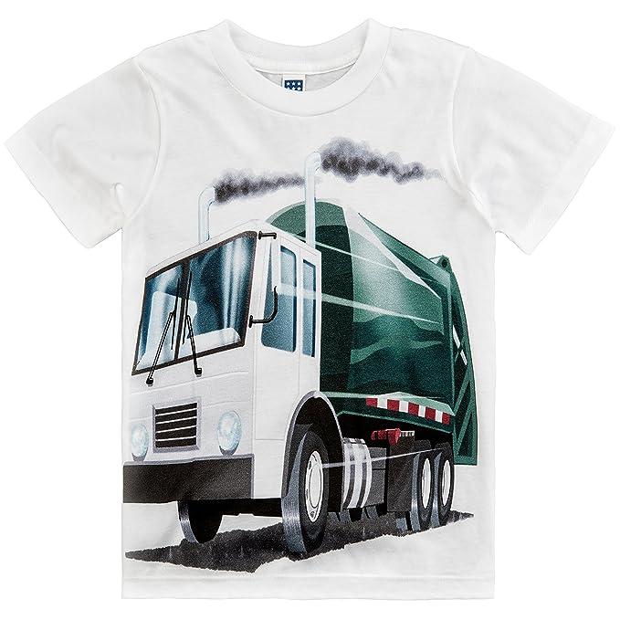 5e53c6a8f Amazon.com: Shirts That Go Little Boys' Garbage Truck T-Shirt: Clothing