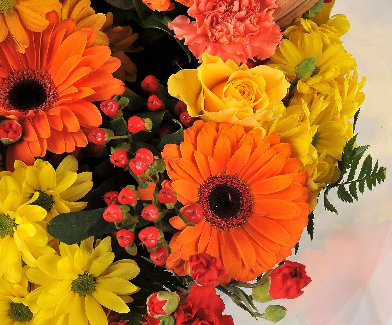 Autumnal orange yellow fresh flower bouquet with handwritten card autumnal orange yellow fresh flower bouquet with handwritten card flowers delivered free uk mightylinksfo