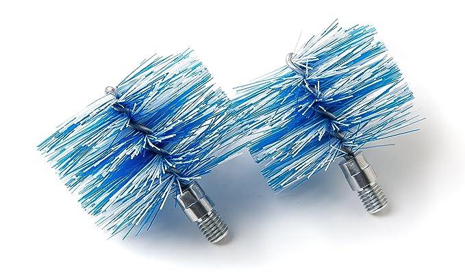 Kit de limpieza de estufas de pellets, conductos de humos con codos: Cable de 3 metros + 2 Escobillas de 80 y 100 mm: Amazon.es: Bricolaje y herramientas