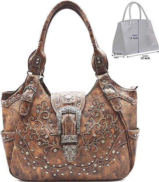 Western Origin Laser cut pattern detail Women Top Handle Satchel Handbags Shoulder Bag Messenger Tote Bag